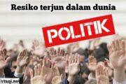 RESIKO TERJUN DALAM DUNIA POLITIK